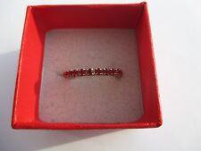 Bague alliance bijou vintage pierres de verre rubis Taille 53