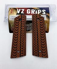 Full Size 1911 | VZ Grips Operator Magwell Tiger Stripe G-10, Aggressive Texture