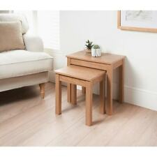 Solid Nest of 2 Tables With a Oak Finish Stunning Living Room Table