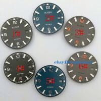 31mm Luminous watch Dial Fit ETA 2836/2824 DG2813/3804 Miyota 8215 821A movement