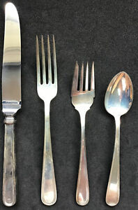 4 PIECE PLACE SETTING STERLING SILVER KIRK SON CALVERT FORKS SPOON KNIFE NO MONO