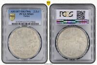 OTTOMAN EMPIRE TURKEY SILVER UNC 2 ZOLOTA COIN AH1187//10 1784 YEAR PCGS MS63