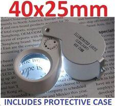 NEW Professional LED Illuminated Jewellers Loupe Magnifying Glass Eye Lens UK J1