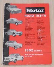 MOTOR Road Tests 1962 - FIAT, SUNBEAM, FORD, HILLMAN, VAUXHALL ++