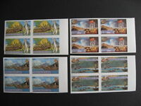 CONGO PEOPLES REPUBLIC SC 489-92 Captain cook MNH imperf blocks of 4 very nice!