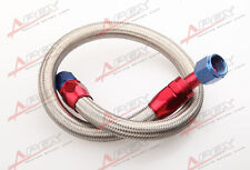 """24"""" 45 ° 10AN SS Braided Racing Performance Oil Fuel Coolant Line Hose Assembly"""