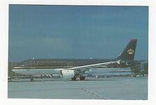 Royal Jordanian Airbus A320 Aviation Postcard, A689