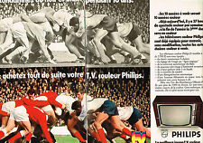 PUBLICITE  1970   PHILIPS  téléviseur  ( 2 pages)