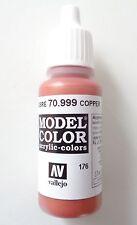 (12,94€/100ml) Vallejo Model Color, Copper / Kupfer, 70.999, 17ml, Neu