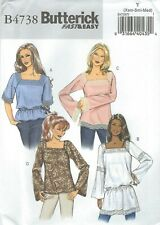 Butterick 4738 Misses'/Miss Petite Tops *Compare @ $7.99 Sewing Pattern