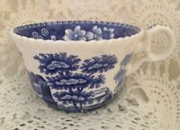 """Old Copeland Blue Spode's Tower Cup Gadroon Border 3.7/8"""" diameter  England"""
