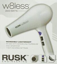 RUSK W8LESS LIGHTWEIGHT CERAMIC IONIC TOURMALINE 2000 WATTS HAIR DRYER BLOWER