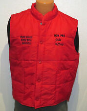 vtg SHASTA CASCADE CUTTING HORSE Red Ski Vest LARGE 80s/90s riding rodeo farm L
