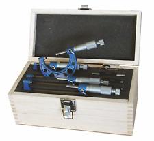 Kit Micromètre 0 - 100 mm - Bande Laqué - avec Cliquet Din 863