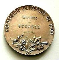 1900 Olympic Paris Ecuador South America Delegation Official Art Nouveau medal