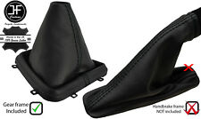 BLACK STITCH LEATHER GEAR+PLASTIC FRAME & HANDBRAKE GAITER FOR FREELANDER 2 LR2