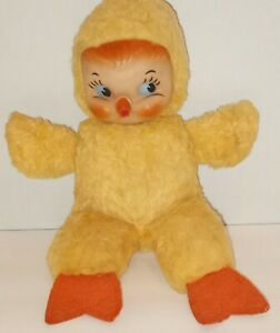 Vintage RUSHTON Rubber Face Duck Wool Felt Feet RARE Very Good Condition