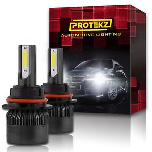 H11 H9 H8 LED Headlight Kit Pair Bulb Plug&Play TurboCool Fan 60W 7200LM 6000K