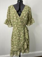 Sabo Skirt Floral Wrap Dress Size S EUC