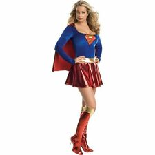 Adult Woman's Classic Supergirl Costume Small 2-6 Dress Rubies Secret Wishes