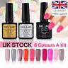 Gel Lab/Blue Velvet 6 Colors Set UV LED Gel Nail Polish Top Base Coat UK Stock