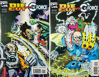 Die-Cut vs. G-Force #1 & #2  (1993) Marvel Comics - Set of 2