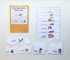 Teacher Created Reading Center Resource Game Rhyming Families Match-Ups