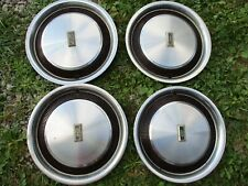 "GENTLY/USED 1978-80 Oldsmobile Cutlass 14 "" WHEELCOVER SET/FOUR CLEAN/STAINLESS"
