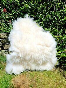 XXXXL Huge British White Sheepskin Rug - 135cm by 85cm A++ (1852)