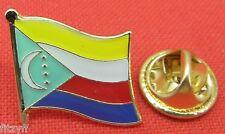 Comoros Flag Lapel Hat Cap Tie Pin Badge Union des Comores Udzima wa Komori