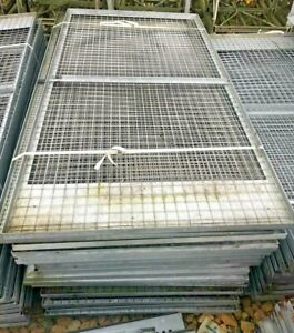 Galv Wire Mesh Panels in Frame - 2.45m x 1.25m