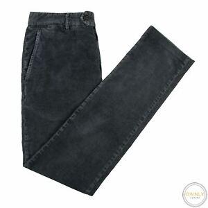 James Perse Spruce Blue Cotton Mix Unlined Flat Front Corduroy Pants 30W