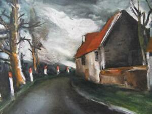 Maurice of Vlaminck: La Route Of Village - Lithography Signed, 1958, 2000ex