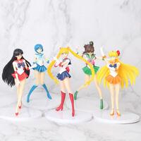 5 pcs Sailor Moon Action Figures: Tsukino Usagi Rei Hino Mizuno Ami Makoto Kino