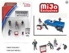 Mechanic Workshop Set Figurines Also for Hot Wheels Red Box 1:64 American Diora