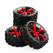 4X 1/10 RC Rally Rubber Tires Wheel Rims For Racing Off Road Car PP0487+MPNKR