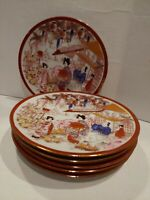 """Vintage Handpainted small Plates 6 1/4"""" Geisha Girls porcelain 6 available"""
