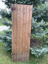 Vintage Primitive Wood Barn Door Garden Shed