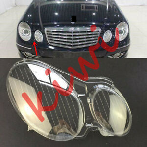 1*For Mercedes-Benz W211 E 2004-2009 Right Headlight Cover transparent pc+Glue_W