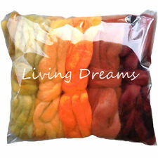 5oz Value Pack Gradient Colors hand dyed BFL Wool Roving for Spinning HARVEST