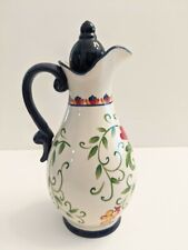 "New listing Joyce Shelton Studios 9.5"" Ceramic Palermo Oil Bottle Certified International"
