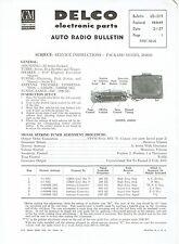 GM Delco 1957 Packard Wonderbar Radio 484649 Service and Parts Bulletin