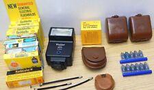 Vintage camera lot lenses GE bulbs film Vivitar 2600 Sylvania Agfa cases slides