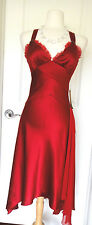 A.B.S. Collection Red Satin X Back  Coctail  Dress ~Sz 4~ Classy & Sexy~NWT~