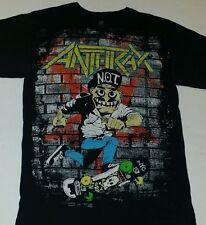 Anthrax Mens S Shirt heavy metal thrash N.O.T. Man skateboard Punk NYC Scott Ian