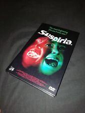 Suspiria Argento HARDBOX '84 ENTERTAINMENT RARE DVD HORROR RAREST COVER hartbox