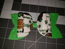 Faux leather Girl Scout Cookies hair barrettes