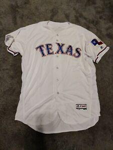 Authentic Texas Rangers Home White Flex Base Jersey SIZE 52