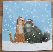 Comic Cats In Snow Quality Christmas Cards Pack of 10  ~100% for Charity~