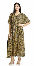 Long Kaftan Dress Caftan Plus Size Beach Cover Up Tunic Indian Casual Wear Boho